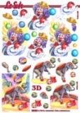 3D-Stanzbogen Metallic Zirkus von LeSuh (600.004)