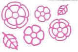 Sticker - Blumen 18 - rosa - 1114