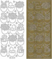 Sticker - Ostern 7 - gold - 180