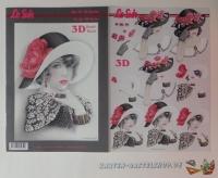 3D-Buch A4 Damen mit Hut von LeSuh (320016)
