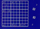 Sticker - Sudoku - silber - 1218