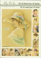 3D-Buch A5 Damen mit Hut von LeSuh (345636)