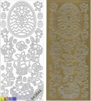 Sticker - Ostern 2 - gold - 881