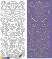 Sticker - Ostern 2 - violett-gold - 881