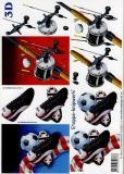 3D-Bogen Fußball und Angeln von LeSuh (4169271)