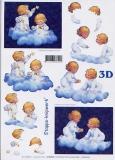 3D-Bogen Engel auf Wolke von LeSuh (416908)