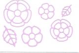 Sticker - Blumen 18 - flieder - 1114