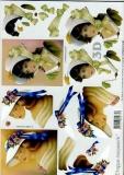 3D-Bogen Frauen mit Hut von LeSuh (4169127)