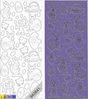 Sticker - Ostern 1 - violett-gold - 880