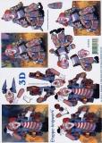 3D-Bogen Clowns von LeSuh (4169456)