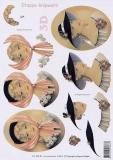 3D-Bogen Dame mit Hut von LeSuh (416914)