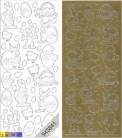 Sticker - Ostern 1 - gold - 880