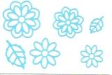 Sticker - Blumen 19 - hellblau - 1113