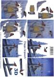 3D-Bogen Vögel im Schnee von LeSuh (4169509)