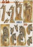 3D-Bogen Giraffe und Zebra von LeSuh (4169755)