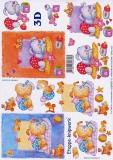 3D-Bogen Hündchen schläft von LeSuh (4169479)