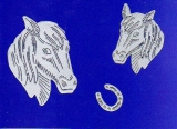 Sticker - Pferde - silber - 1008
