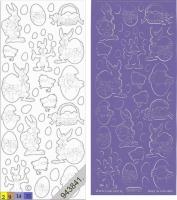 Sticker - Ostern 1 - violett - 880