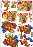 3D-Bogen Weihnachtsbär und Igel von LeSuh (4169138)