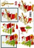 3D-Bogen Weihnachtsmann mit Banjo von LeSuh (4169100)