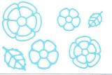 Sticker - Blumen 18 - hellblau - 1114