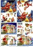 3D-Bogen Weihnachtsmann im Wald von LeSuh (4169102)