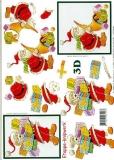 3D-Bogen Weihnachtsmann von LeSuh (416999)