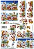 3D-Bogen Weihnachtsmänner von LeSuh (4169318)