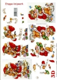 3D-Bogen Weihnachtsbär von LeSuh (416905)