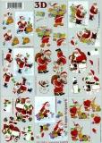 3D-Bogen Weihnachtsmänner klein von LeSuh (4169379)