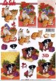 3D-Bogen Hund und Katze von LeSuh (650012)
