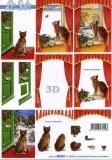3D-Bogen Weihnachtskatze von LeSuh (650010)