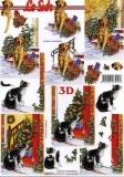 3D-Bogen Katze und Hund von LeSuh (650011)