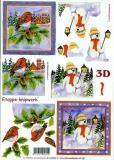 3D-Bogen Vögel und Schneemann von LeSuh (4169395)