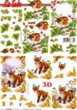 3D-Bogen Vogel und Fuchs im Winter von LeSuh (650005)