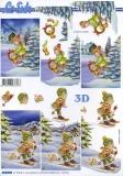3D-Bogen Kind mit Ski von LeSuh (4169949)