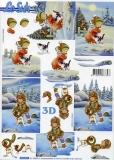 3D-Bogen Kind im Schnee von LeSuh (4169939)