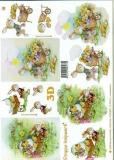 3D-Bogen Hase mit Schubkarre von LeSuh (4169422)