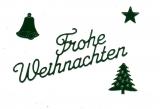 Sticker - Frohe Weihnachten 1 - dunkelgrün - 450