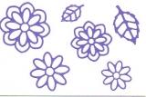 Sticker - Blumen 19 - violett - 1113