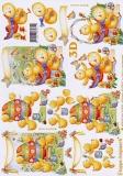 3D-Bogen Osterküken mit Ei von LeSuh (4169416)