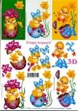 3D-Bogen Osterküken und Osterei von LeSuh (4169155)