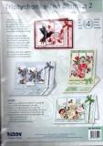 Karten-Bastelset - Triptychon-Karten Blumen 2 von Reddy (85111)