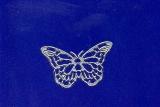Sticker - Schmetterlinge 2 - silber - 822