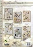 Karten-Bastelset - Grußkartenset Flower Art 1 von Reddy (85050)