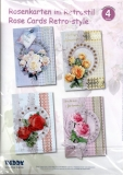 Karten-Bastelset - Rosenkarten im Retrostil von Reddy (80476)