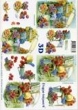 3D-Bogen Set Im Garten 1  (SET-022)