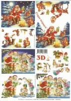 3D-Bogen Set Weihnachten 8  (SET-028)