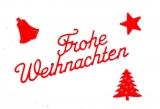 Sticker - Frohe Weihnachten - rot - 450