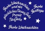 Sticker - Weihnachtliche Schriften - weiß - 454